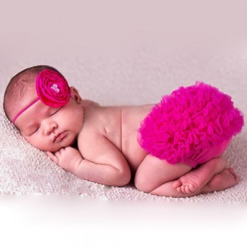 Rose Photo Prop Baby Girl Bloomer with Matching Headband