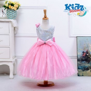 Pink Tutu dress with beautiful sequin bow
