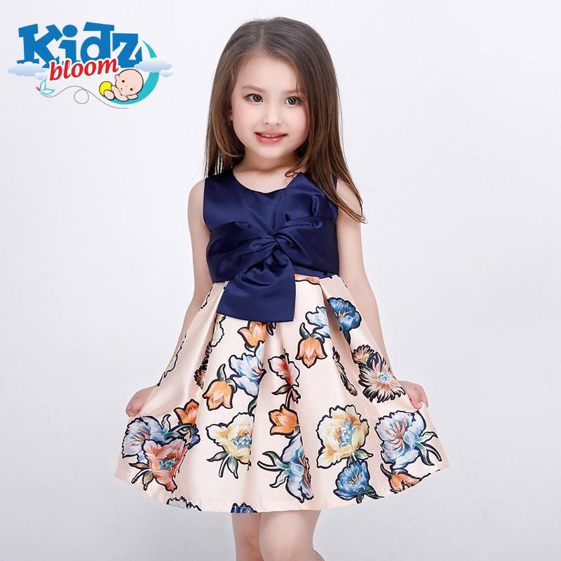 Stylish blue floral dress