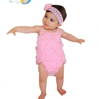 Baby Girl Pink ruffled sling skirt