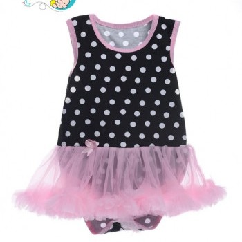 Pink sleeveless baby girl tutu dress
