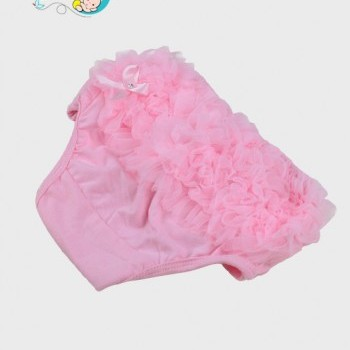 Light pink ruffled diaper cover