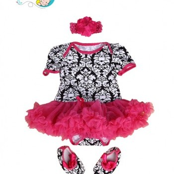 3pce Sweet Baby Girl Tutu Dress with Headband