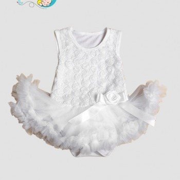 White Baby Girl Tutu party jumpsuit
