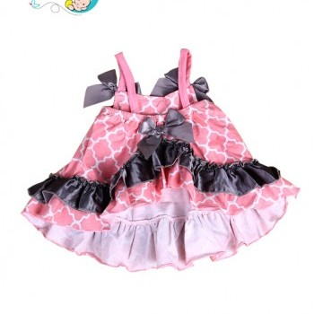 Pink Plaid Baby Girl Cotton Ruffled Bloomer Set
