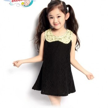 Black baby girl sequin party dress