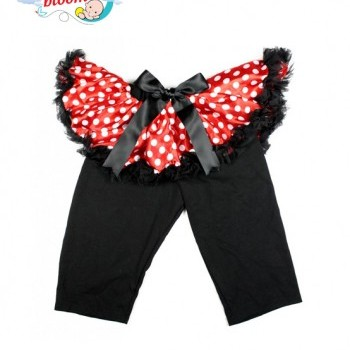 Minnie Bowdot Baby Girl Pettiskirt with Matching Black Leggings