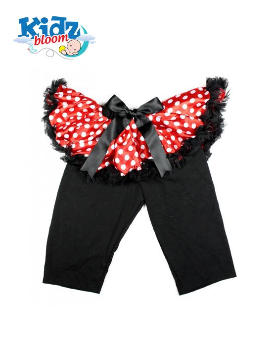 Minnie Bowdot Baby Girl Pettiskirt with Matching Black Leggings