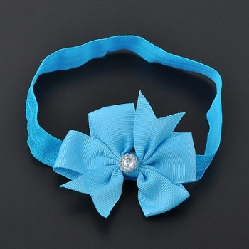 BLUE BOW WRAP HEAD BAND