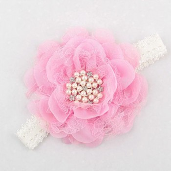 LIGHT PINK SINGLE FLOWER CRYSTAL BAND