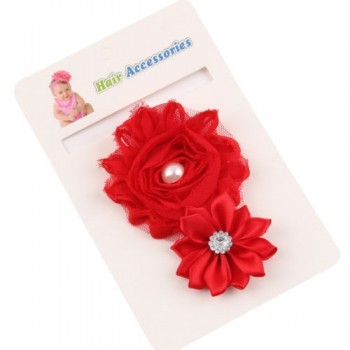Red Cute Crystal Rose Band