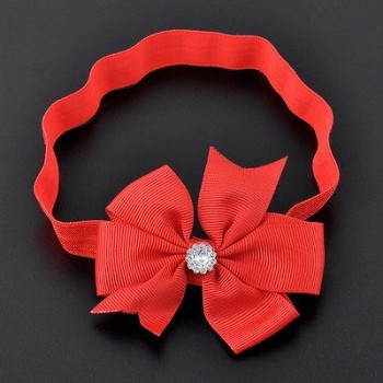 RED SLIM BOW WRAP HEAD BAND