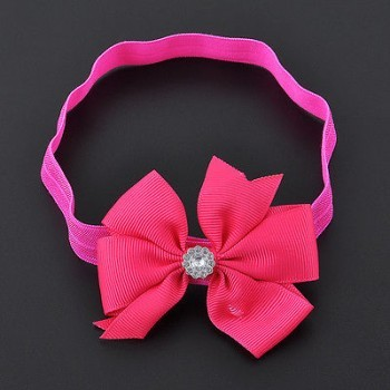 ROSE PINK BOW WRAP HEAD BAND