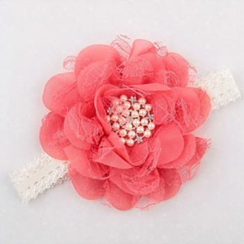 ROSE RED SINGLE FLOWER CRYSTAL BAND