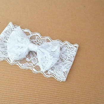 WHITE CUTE LACED HEADBAND