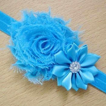 Blue Pearl Rose Headband