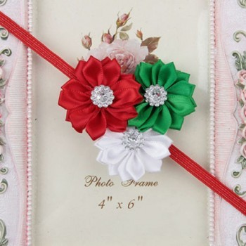Christmas Three Flower Mini Headband