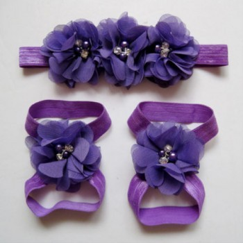 Dark Purple Headband and Footband Set