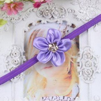 Dark Purple One Flower Mini Headband