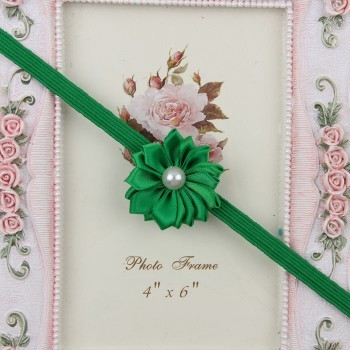 Flowery Green Headband