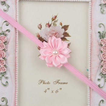 Flowery Light Pink Headband