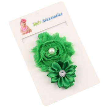Green Pearl Rose Headband
