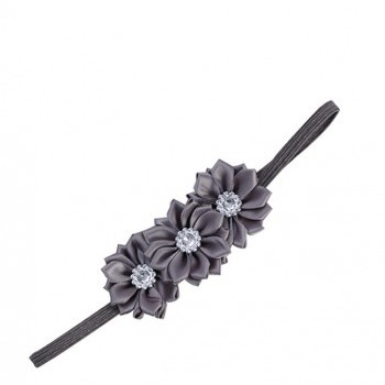 Grey Triple Flower Shining Headband