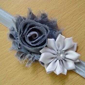 Greyish Pearl Rose Headband