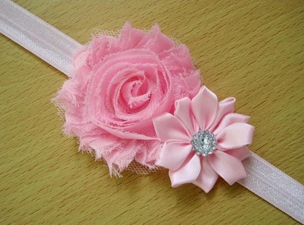 Light Pink Pearl Rose Headband