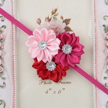 Mixed Pink Three Flower Head Band
