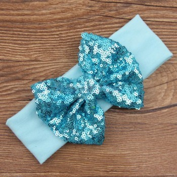 Ocean Blue Sequin Headband