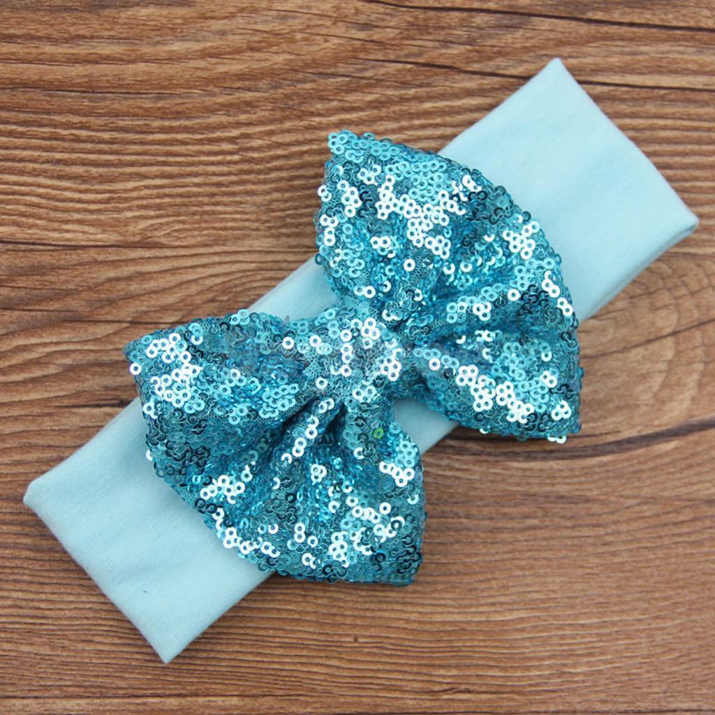 Ocean Blue Sequin Headband