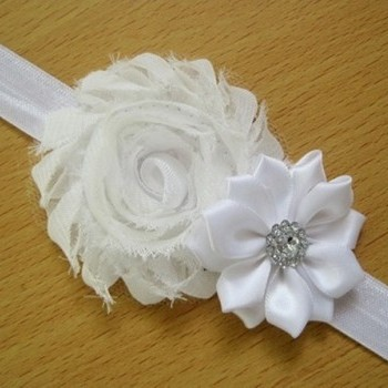 Pure White Pearl Rose Headband