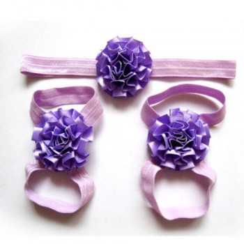 Purple Headband and Footband Set