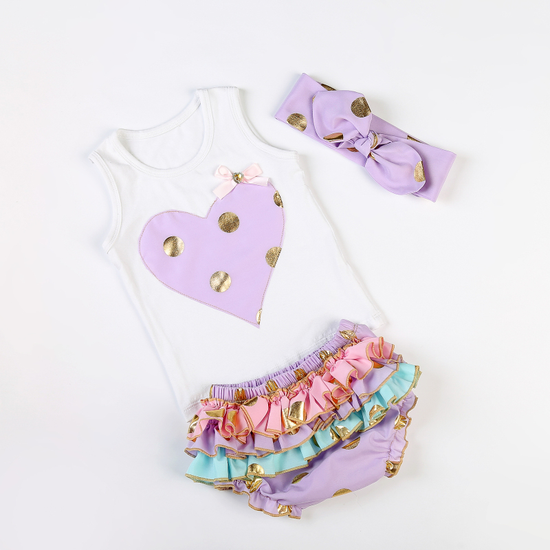 Purple Heart shaped bloomer set