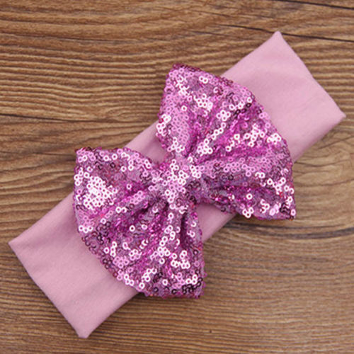 Purple Sequin Headband