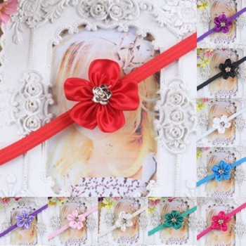 Red One Flower Mini Headband