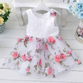 watermelon princess flowery dress Kidzbloom