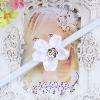 White One Flower Mini Headband