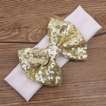 White Sequin Headband